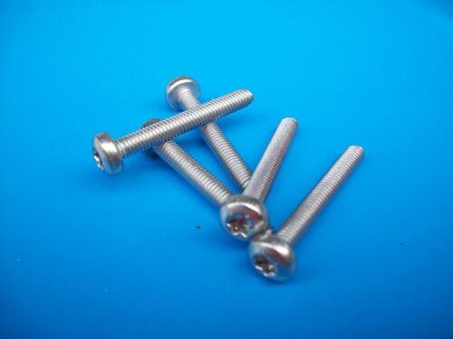 5 x Edelstahl V2A DIN 7985 M4 x 60 mm Torx Linsen Gewinde Schrauben ISO 7045