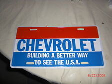 Vtg style Car Truck LICENCE PLATE FOR A CHEVY OR MANCAVE Hot Rat Rod 50s 60s 70s