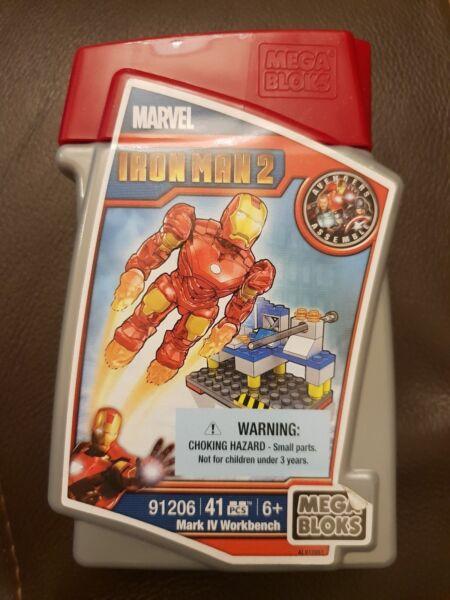 Apprensivo Mega Bloks Marvel Iron Man Mark Iv Workbench 91206-nuovo Non Aperto