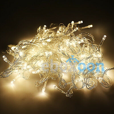 10M/20M 100/ 200 LED Bulbs Xmas Fairy Party String Decor Lights Tree Waterproof