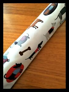 Light-dust-and-breeze-excluder-custom-sizes-washable-Cute-Dogs-pattern-New