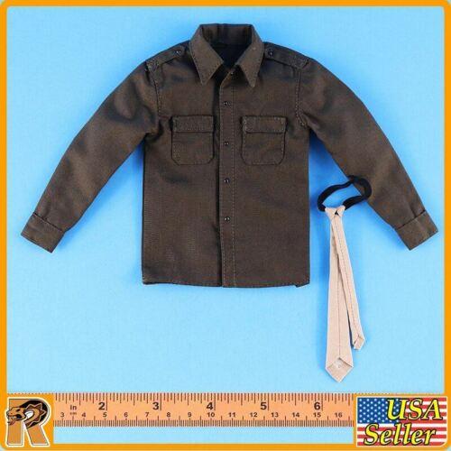 Alerte Line figures Deuxième guerre mondiale US Army Officer B-Shirt /& Tie-échelle 1//6