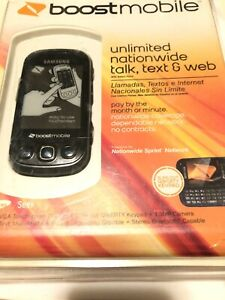 Samsung Seek Sph M350 Boost Mobile Cell Phone Black Blue Slider Smartphone 3g Ebay