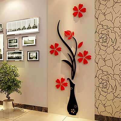Flower Decal Vinyl Decor Art Home Room Removable Mural Wall Stickers DIY DecoraL