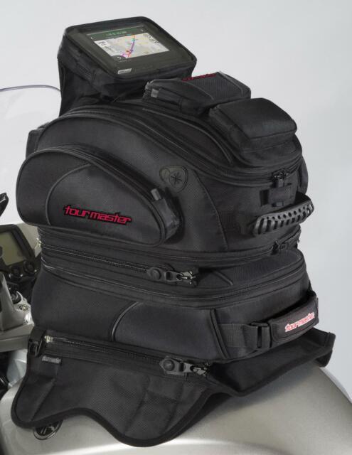Tourmaster 8263-1005-30 Tour Master Elite Tri-Bag Tank Bag - Strap Mount