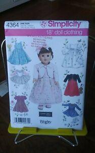 Oop-Simplicity-Elaine-Heigl-4364-18-034-doll-clothing-ballet-communion-dresses-NEW