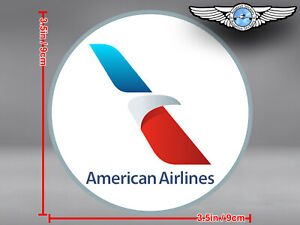 AMERICAN-AIRLINES-AA-NEW-STYLIZED-EAGLE-LOGO-ROUND-DECAL-STICKER