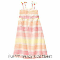 Crazy 8 Girls Size Small 5-6 Sparkle Stripe Fully Lined Below Knee Dress