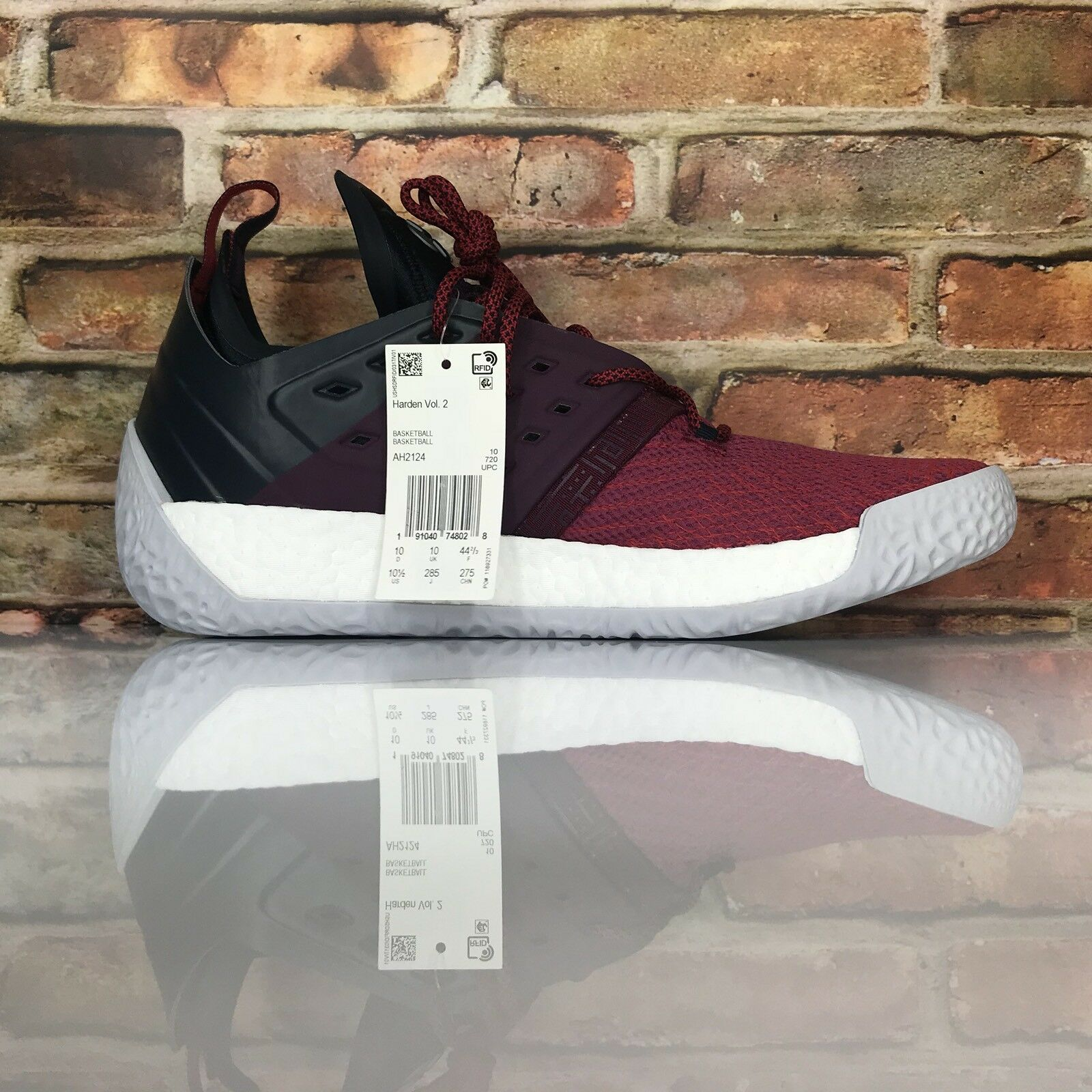 Adidas James Harden MVP Vol. 2 Men 9 AH2124 Basketball Shoes Ignite Maroon AH2124 9 9ec108