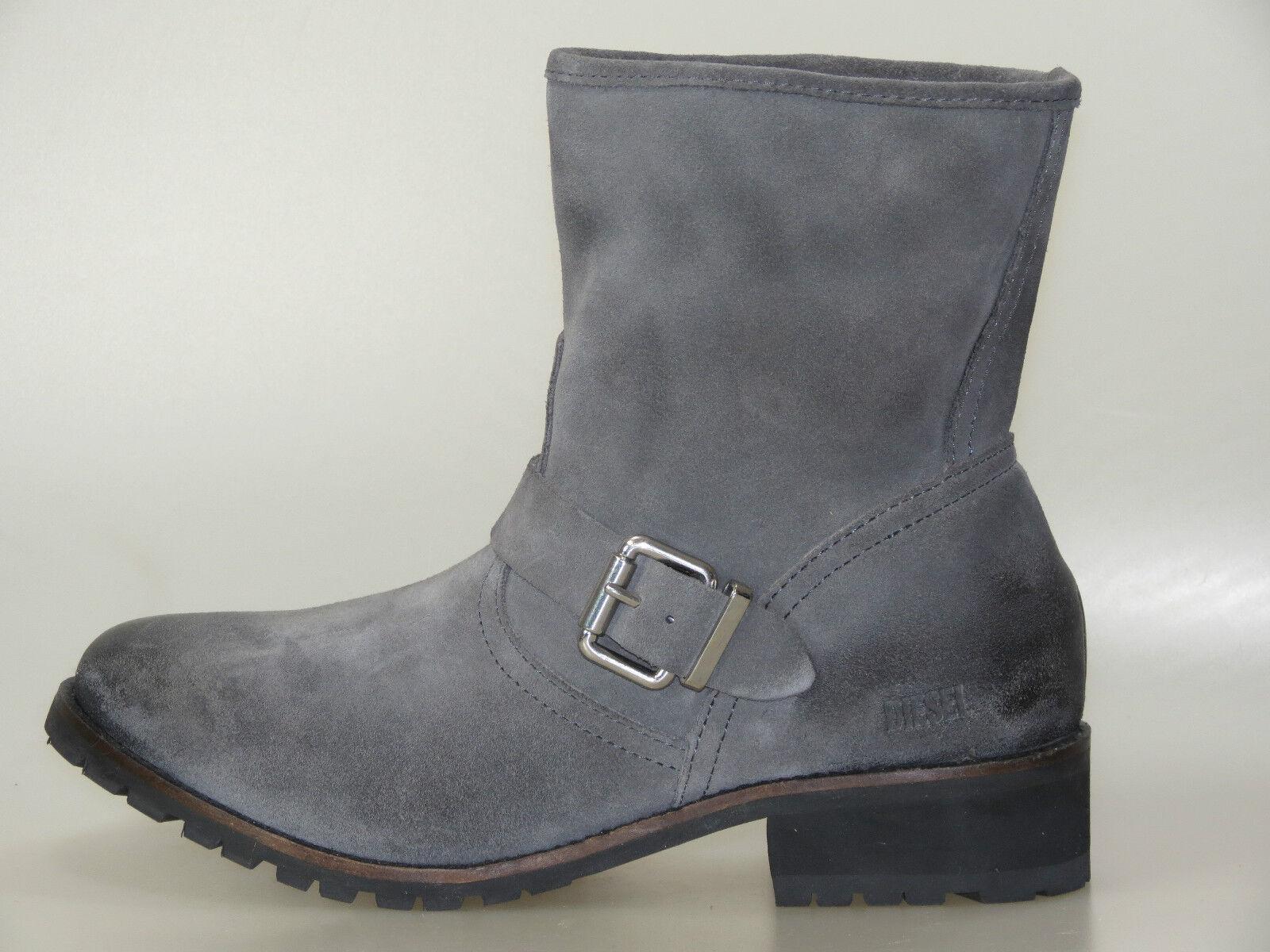 DIESEL MARY damen Stiefel STEEL grau Y00564 PR047 T8087 Grau +NEU+ Größe 37-40