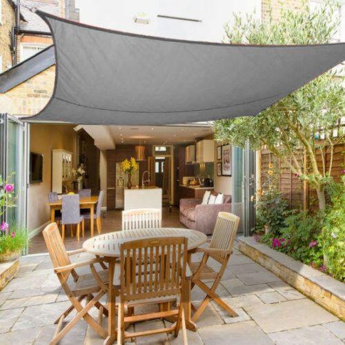 3m x 3m Sun Shade Sail Garden Canopy Awning Screen 98/% UV Block Anthracite
