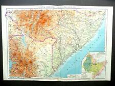 Linee dell'Impero e dell'AOI Ala Littoria Carta Geografica Parte Sud De Agostini