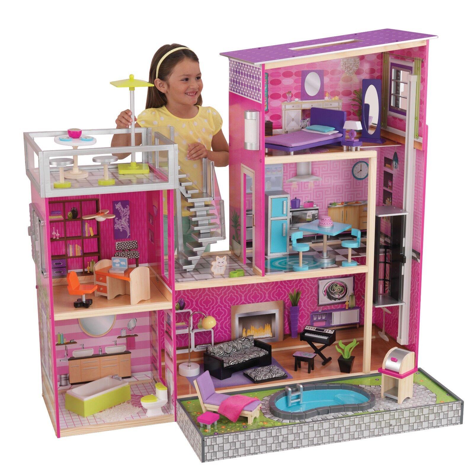 Profitez de la fin de l'année, copiez le prix prix le du cadeau, c'est au-delà de votre imagination! Kidkraft 65833 Maison de Poupée Dollhouse Uptown bois 02ee92