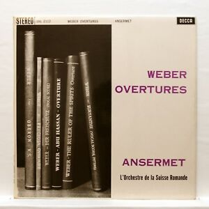 SXL-2112-WBg-ED1-ERNEST-ANSERMET-WEBER-overtures-DECCA-orig-LP-NM