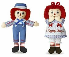 Raggedy Ann and Andy Doll 12'' Hasbro By Aurora Soft Plush New With Tags
