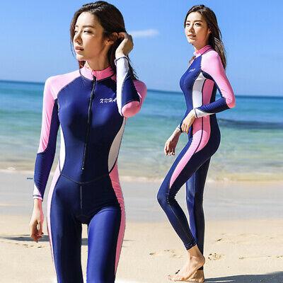 Women One Piece Swimsuit Full Body Rash Guard Long Sleeve Surfing Scuba Swimsuit | eBay