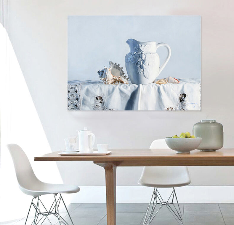 3D Tisch, whitee Vase 36 Fototapeten Wandbild  BildTapete Familie AJSTORE DE