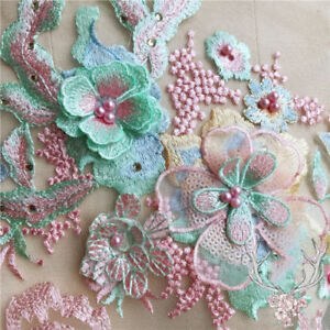 3D-Flower-Lace-Embroidery-Bridal-Applique-Beaded-Pearl-Tulle-DIY-Dress-Fashion