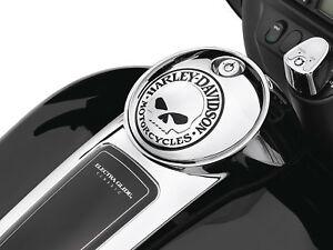 Image is loading Harley-Davidson-Willie-G-Skull-Fuel-Console-Door-