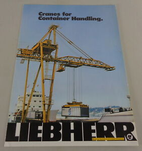 Prospectus/Brochure Liebherr Cranes For Container Handling From 05/1972