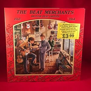 VARIOUS-The-Beat-Merchants-British-Beat-Groups-1963-1964-1976-UK-Vinyl-LP-EXCE