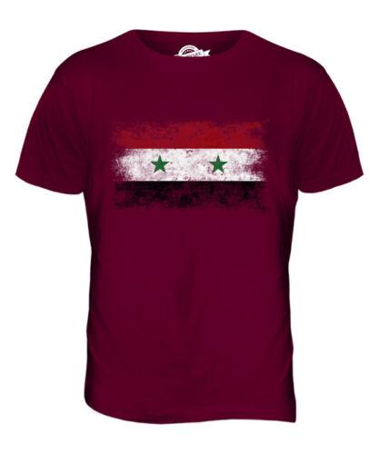 SYRIA DISTRESSED FLAG MENS T-SHIRT TOP SURIYAH FOOTBALL SYRIAN GIFT SHIRT