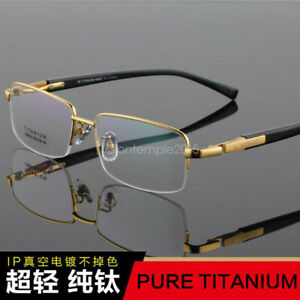 Reading-Glasses-1-00-1-50-to-6-00-Presbyopic-Lens-Titanium-Half-Frame-Reader
