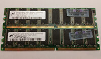 Micron / HP - 1GB Kit - 2x 512MB DDR 400mhz PC3200 NON ECC RAM Desktop PC Memory