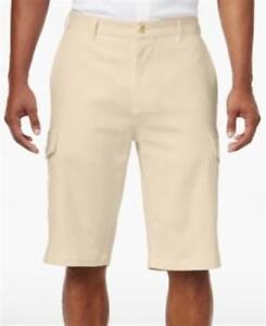 Sean-John-Lightweight-Linen-Cargo-Stretch-Shorts-Moonlight-Mens-32