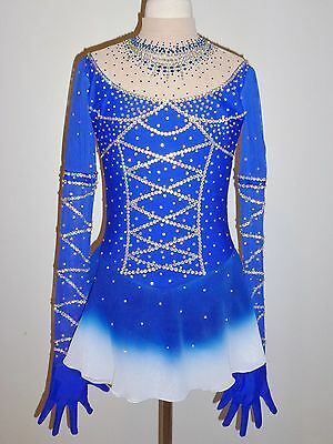 CUSTOM MADE TO FIT FIGURE ICE SKATING /BATON /TWIRLING COSTUME