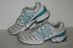 Adidas Climacool Running Shoes #727250 Wht/Turq/Slvr Sample Womens US Size 7