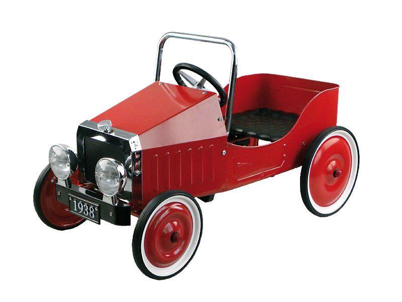 Automobile a a Automobile pedali rossa 90 cm ruote gommate 1938 (Replica) 2397a5