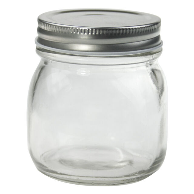324 X 300ml SILVER LID Small Glass Jars Conserve Jam Food Favour