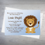 10 Personalised Christening Baptism First Lohri Invite Invitation Lion CCI12