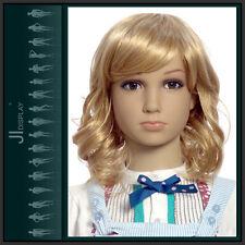JI DISPLAY Kinder Perücke Wig B4 für Kinderpuppen Mannequin Schaufensterpuppe