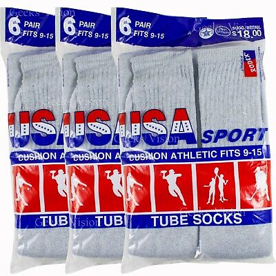 12  pair Men/'s Brown Tube Work// Sport Sock Size 10-13.USA. 6