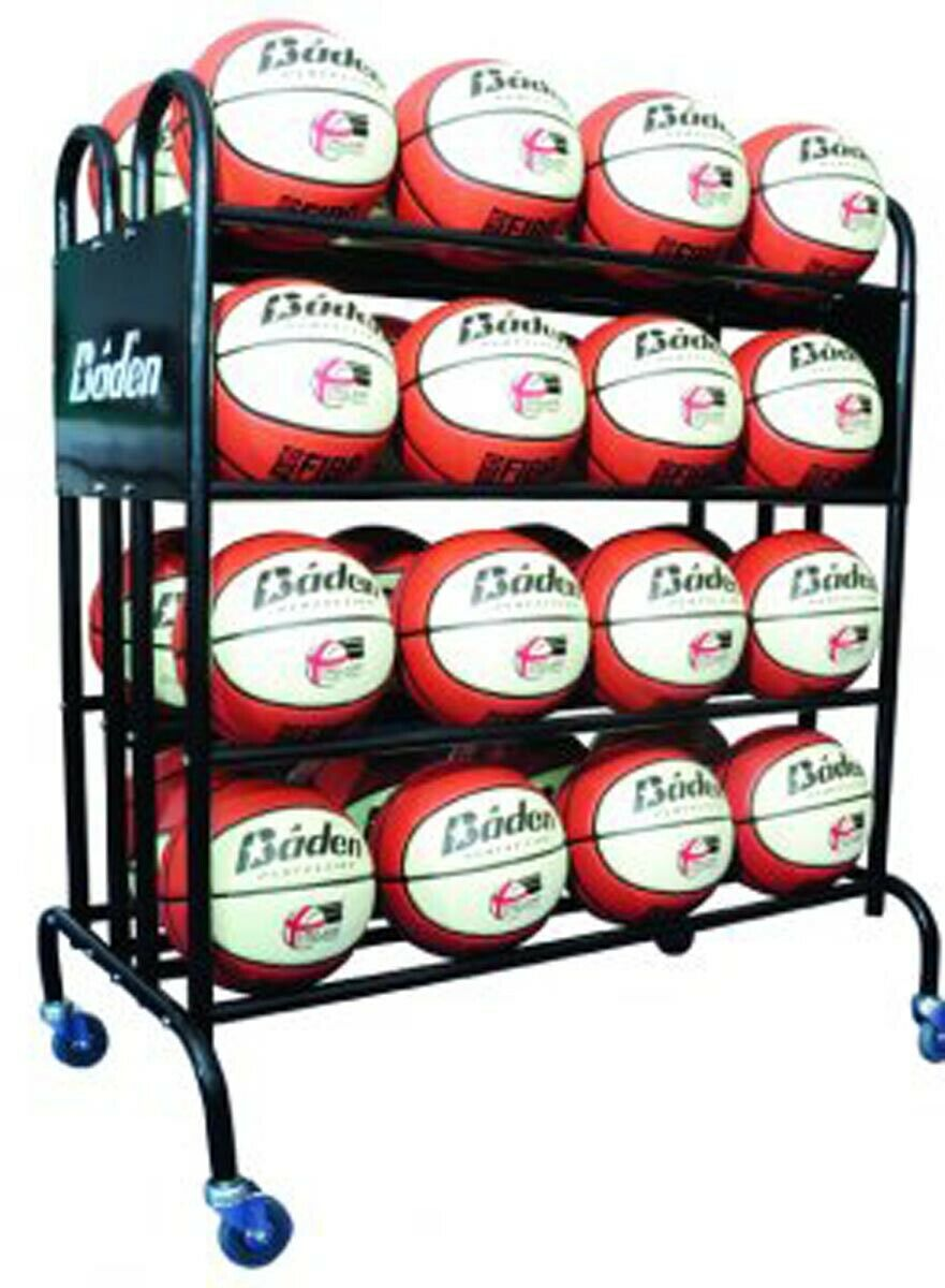 Baden 461 Basketball Sports 4 Wheels Movable 32 Balls Storage Trolley Unit
