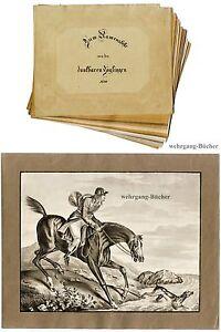 Sammlung-von-13-Aquarellen-und-Zeichnungen-von-1836
