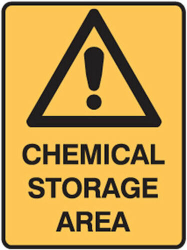 Fridge Magnet Funny Warning Sign Comedy Caution Sign Chemical Storage Area