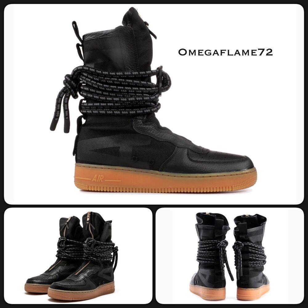 Nike SF AF1 HI, Air Obliger 1, UK 6, EU 40, US 7, AA1128-001, noir & Gum-
