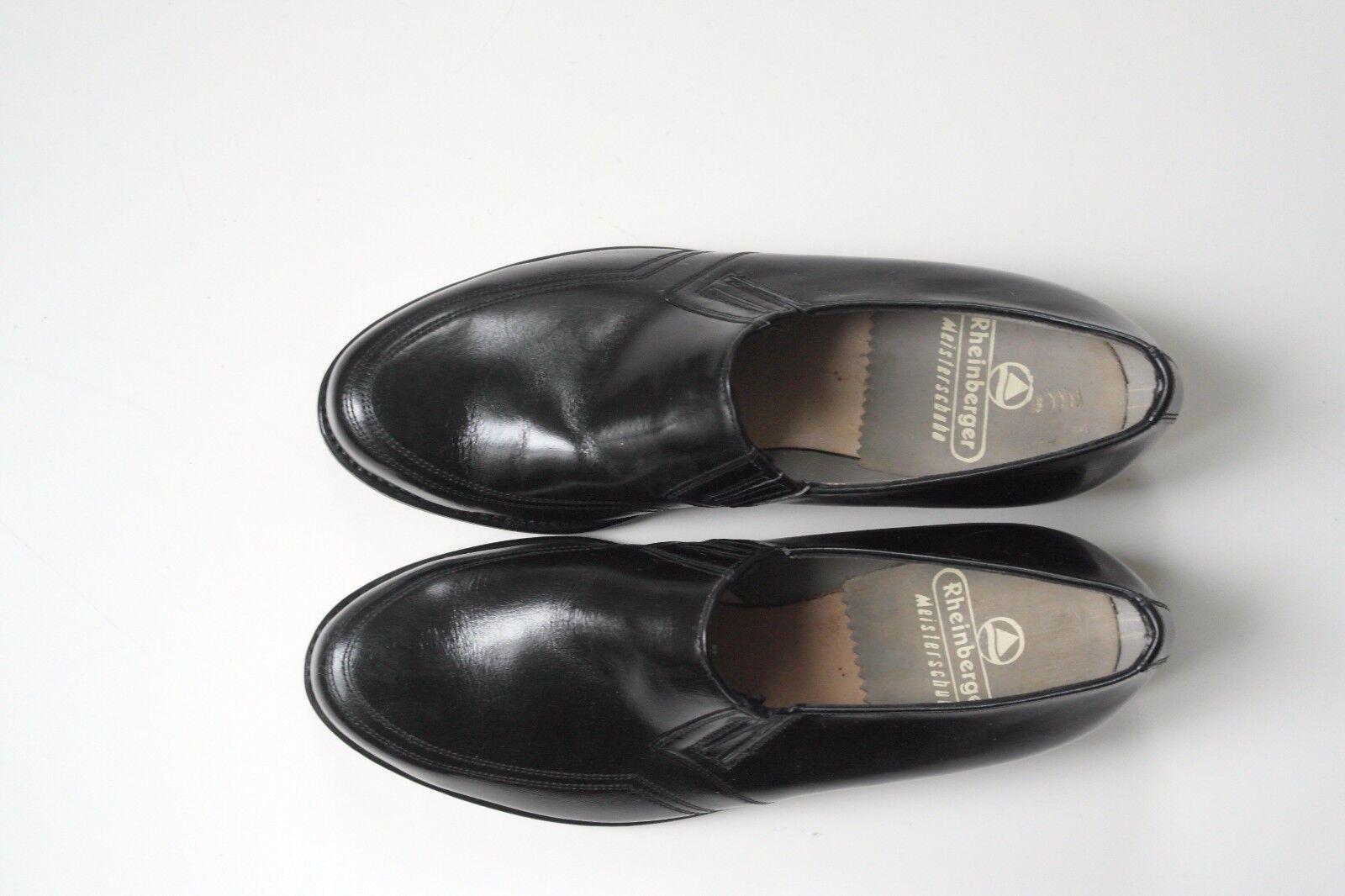 Rheinberger Meisterschuhe Loafer Schuhe Halbschuh Slipper Akbar Loafer Meisterschuhe NOS TRUE VINTAGE 336184