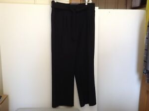 Apt 9 Womens Size 16 Black Tie Belted Wide Leg Trouserspants Nwt