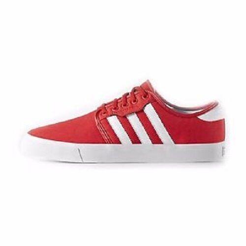 Adidas SEELEY Red Blanco Skate HOMBRES casuales  Zapatillas  Discounted (222) DE LOS HOMBRES Skate Shoes 01d87b