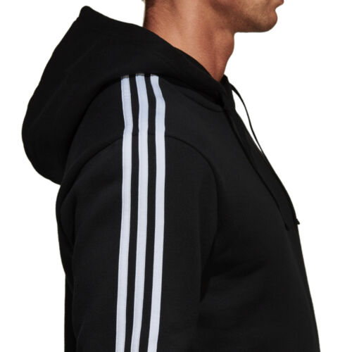 Training Essential Br3588 Men Black Sudadera Running 3 capucha con Adidas Stripes New pqxgf0z