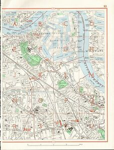 image is loading 1964 vintage london street map rotherhithe millwall new