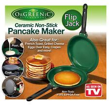 Orgeenic Flip Jack Double Pan Non-Stick Non-Stick Cookware Ceramic PanCake Maker