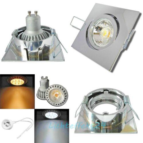 1er Set High Power LED Einbauleuchte Deckenstrahler Lana 5W=50W 230V COB Spots