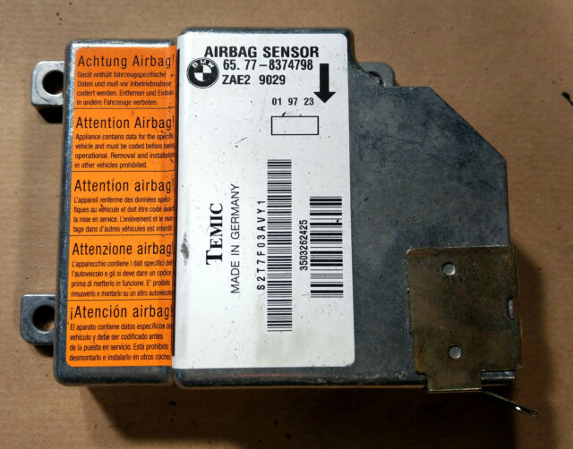 Bmw e36 airbag dispositivo de control Módulo airbag unidad de control 8374798 sensor módulo