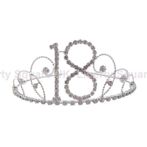 Silver Diamante 18th Birthday Tiara 18th Party #224 18th Birthday Gift