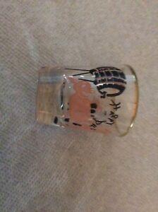 Vintage-Pink-Pig-Shot-Glass-Dancing-Happy-Das-Keg-Barrel-Gold-Trim